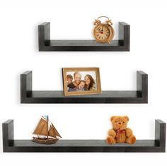 Set of three U shelves for just $14.20. Visit our site to find out where to get it! https://www.comfyhut.com/furniture/greenco-set-of-3-floating-u-shelves