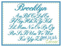 """Brooklyn Embroidery Font These letters come in .5"""",1"""", 1.5"""", 2"""", 2.5"""", 3"""", 3.5"""" sizes"""