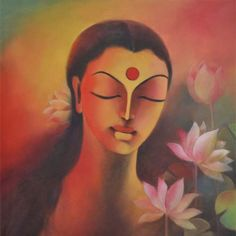 MR13 Spiritual Grace - Lakshmi Acrylic on canvas 24 x 24 inches Unavailable  (Can be