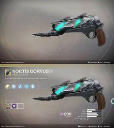 Exotic HC Concept: Noctis Corvus by RavenMother by DestinyWarlock on DeviantArt Anime Weapons, Sci Fi Weapons, Weapon Concept Art, Fantasy Sword, Fantasy Weapons, Destiny Fallen, Destiny Video Game, Destiny Comic, Destiny Bungie