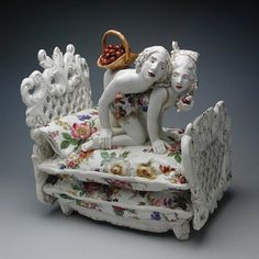 Lust and Gluttony is the latest piece from a cheeky collection of porcelain by Chris Antemann.