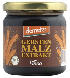 Barley malt extract from Germany, organic (biological), demeter, of the highest quality available; gluten-free sweetening alternative: http://www.naturkost.com/lindenmeyer-linco-gerstenmalzextrakt-demeter-450g