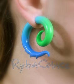 Fake ear gauge / Faux gauge/Gauge earrings / fake by RybaColnce, $22.00