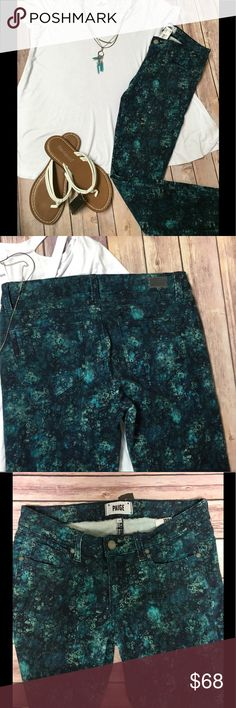 Paige jeans in floral print Floral print straight leg Paige jeans Paige Jeans Jeans Straight Leg