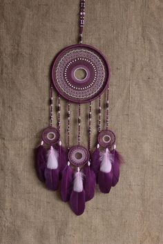 Dream catcher/Dreamcatcher/Boho dreamcatcher/marocain boho/tzigane/Violet dreamcatcher