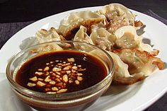 Asian Pork Potstickers With Hoisin Dipping Sauce  #KitchenBoss
