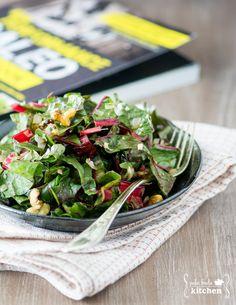Swiss Chard Salad with Toasted Walnuts from The Performance Paleo Cookbook | paleofoodiekitchen.com #performancepaleo #paleo