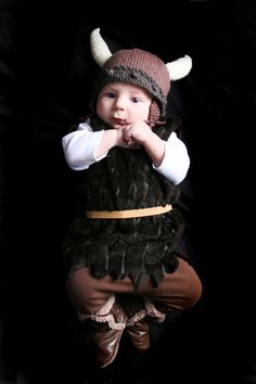 viking halloween costume for baby with knit hat d2f5f8440