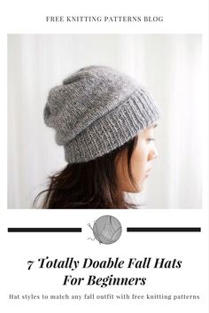Free hat knitting patterns for fall and winter. Easy hat knitting patterns for all levels.