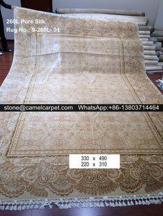 260L pure silk on silk rug
