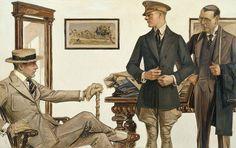 Fitting by Joseph Christian Leyendecker #illustration #vintage #josephchristianleyendecker