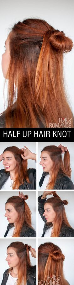 90s inspired hairstyle tutorial – the half up hair knot