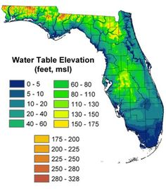 Florida Sink Hole Map.Sinkhole Zones In Florida From Florida Geological Survey Map Series
