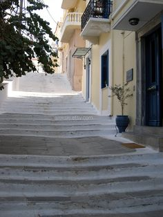 Sea of steps  Andros, Greece