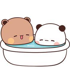 Cute Panda Cartoon, Cute Anime Cat, Cute Cartoon Pictures, Cute Love Cartoons, Cute Bear Drawings, Cute Animal Drawings Kawaii, Cute Little Drawings, Cute Cartoon Drawings, Wallpapers Kawaii