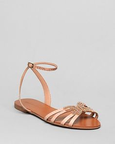 Badgley Mischka Flat Sandals - Courtney | Bloomingdale's