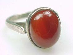 Estate Sterling Silver Genuine Carnelian Ring Size 5 No Reserve 925 | eBay