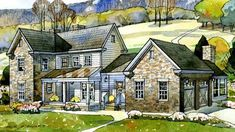 Valley View Farmhouse - New South Classics, LLC | Southern Living House Plans: