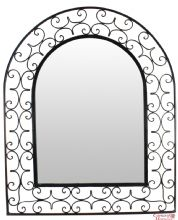 Moroccan Mirror Arch in Wrought Iron Handmade Extra Large 110 cm x 90 cm Moroccan Mirror, Arch Mirror, Beautiful Mirrors, Moroccan Design, Metal Trays, Frame Crafts, Glass Etching, Hand Engraving, Wrought Iron
