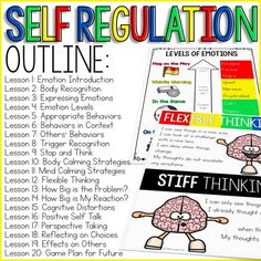 education - Self Regulation Curriculum Self Regulation Activities for School Counseling Counseling Activities, Therapy Activities, Cbt Therapy, Social Activities, Elementary Counseling, Leadership Activities, Nutrition Activities, Career Counseling, Elementary Schools