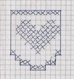 lo spazio di lilla: A gentile richiesta...I bordi all'uncinetto con il cuore