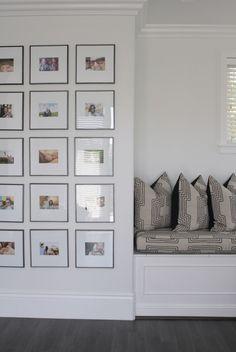marcos con fotos  para pared derecha con finos marcos en negro y fotos elegidas por ustedes color en 10x15