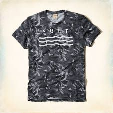 Pattern Surf Graphic T-Shirt