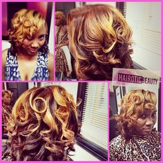 Natural hair custom colored and styled by @hairotic_beauty_