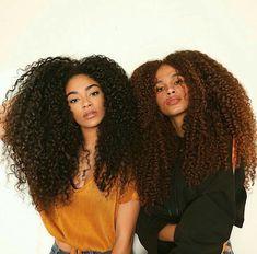 Jasmean and joyjah long curly natural hair Big Curly Hair, Long Curly, Curly Hair Styles, Natural Hair Styles, Curly Girl, Long Natural Hair, Pelo Natural, Natural Oil, Natural Hair Growth Remedies