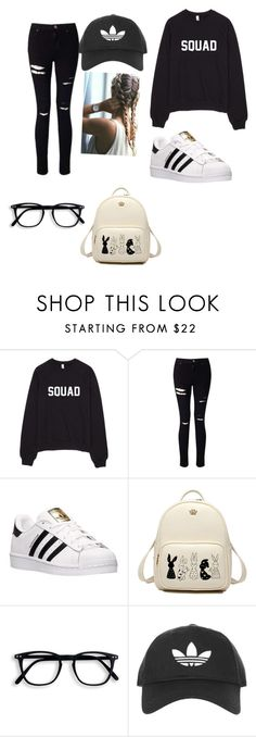 """Untitled #128"" by nasteexomohamud on Polyvore featuring Miss Selfridge, adidas and Topshop"