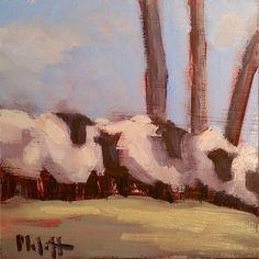 Sheep Big Fluffy Sheep Contemporary Oil Painting, painting by artist Heidi Malott