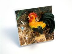 Rooster Light Switch! Handmade in the UK by Candy Queen