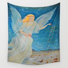 #Guardian #Angel #Abundance 30% OFF FRAMED PRINTS ART PRINTS TAPESTRIES & ALL WALL ART SALE ENDS TONIGHT ORDER TODAY TO RECEIVE BEFORE CHRISTMAS @society6 #art #society6 #wallart #homedecor #kidsart #design #Christmas #tapestry #yoga #life #reiki #spirit https://society6.com/product/bless-me--guardian-angels-are-here--angel-of-abundance--love-eh4_tapestry