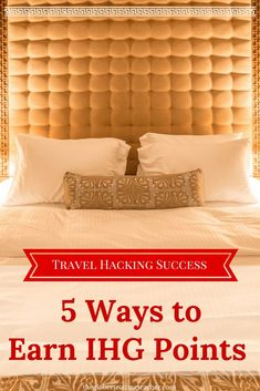 Do you know about the IHG Rewards Program and the value it offers? Find out 6 ways you can earn IHG points and take advantage of IHG's Rewards Program! Hotel Rewards, Travel Rewards, Travel Info, Travel Tips, Travel Hacks, Travel Ideas, Travel Stuff, Cheap Travel, Budget Travel