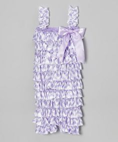 ced18b5c484 Hair Bows Unlimited Lavender Zigzag Ruffle Romper - Infant   Toddler