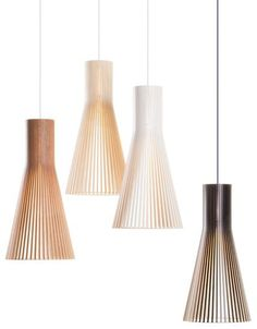 Lampe suspension / contemporaine / en bois / fait main - SECTO: 4200 by Seppo Koho - SectoDesign Oy Shop Lighting, Interior Lighting, Lighting Design, Pendant Lighting, Pendant Lamps, Scandinavian Lamps, Scandinavian Furniture, Light Fittings, Light Fixtures