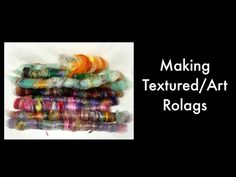 How to make puni rolags on a drum carder with Soffsilk silk waste - YouTube