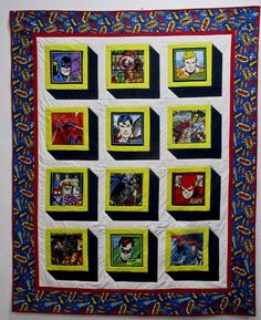 Items similar to Boys Superhero Shadow Box Quilt on Etsy Boy Quilts, Scrappy Quilts, Shirt Quilts, Panel Quilts, Quilt Blocks, Boys Quilt Patterns, Quilting Patterns, Quilting Ideas, Baby Patterns