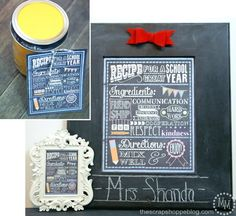 School Year Recipe Printable | Give the kids' teachers a gift they deserve with this great printable!