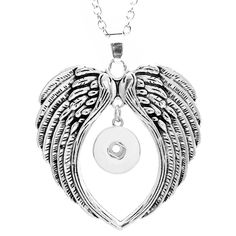 wings  snap button pendant Necklace OEM, ODM NC658 (fit 18mm 20mm  snaps)-in Pendants from Jewelry & Accessories on Aliexpress.com | Alibaba Group