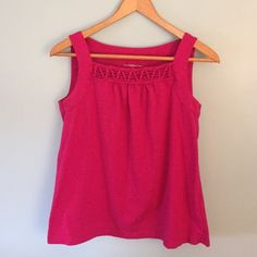 Cute Pink Tank Fun hot pink tank! Only worn once. No stains or tears. Croft & Barrow Tops Tank Tops