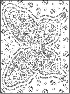 Click here to print this free coloring page! Coloring is a great stress reliever - especially when its free! | Free coloring book page | Adult Coloring Book | Free Printable | Dover Creative Haven Mehndi Designs Coloring Book