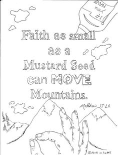 Mustard Seed Faith Coloring Page