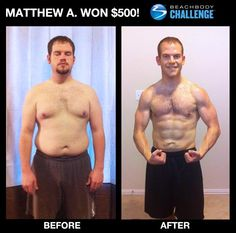 Way to go Matthew.  You can change too.  You could be the next winner of $500 or up to $100,000.  Ask me how. www.ryanwilliamsfitness.com