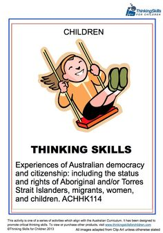 Teaching Activities: Experiences of Australian Democracy & Citizenship - Children: thinking activities and guidance notes aligned to the descriptor Teaching Government, Rights And Responsibilities, National Curriculum, Australian Curriculum, Teaching Activities, Thinking Skills, Citizenship, Family Traditions, Teacher Resources