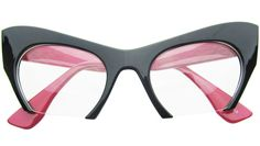 Cut Off Cat Eye Glasses in Two Tone