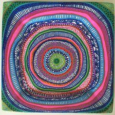 Decorative Plate  Mandala Colorful  Original by biancafreitas