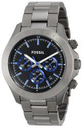 Fossil Men's CH2869 Retro Traveler Smoke-Tone Stainless Steel Watch