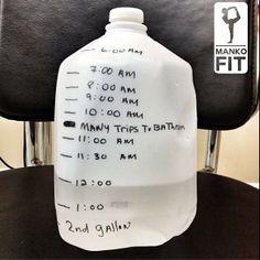Gallon jug of water