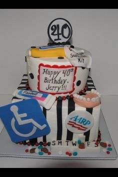 40th birthday cake Do Dahs Donuts Creations Pinterest 40